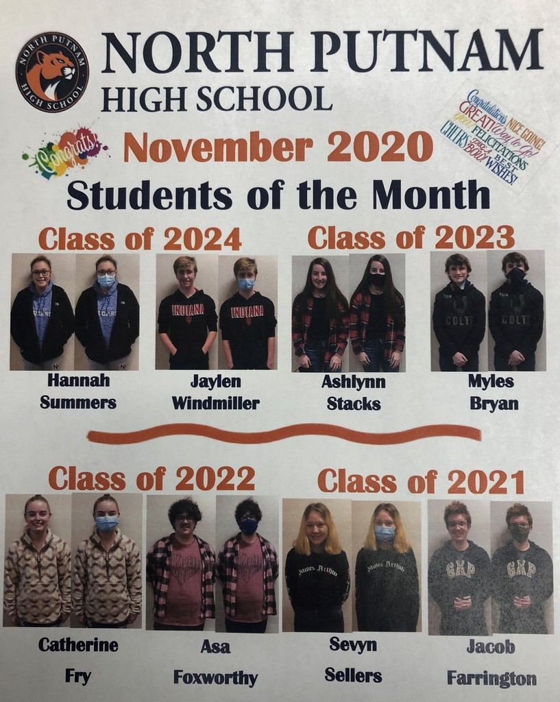 NPHS November Students of the Month