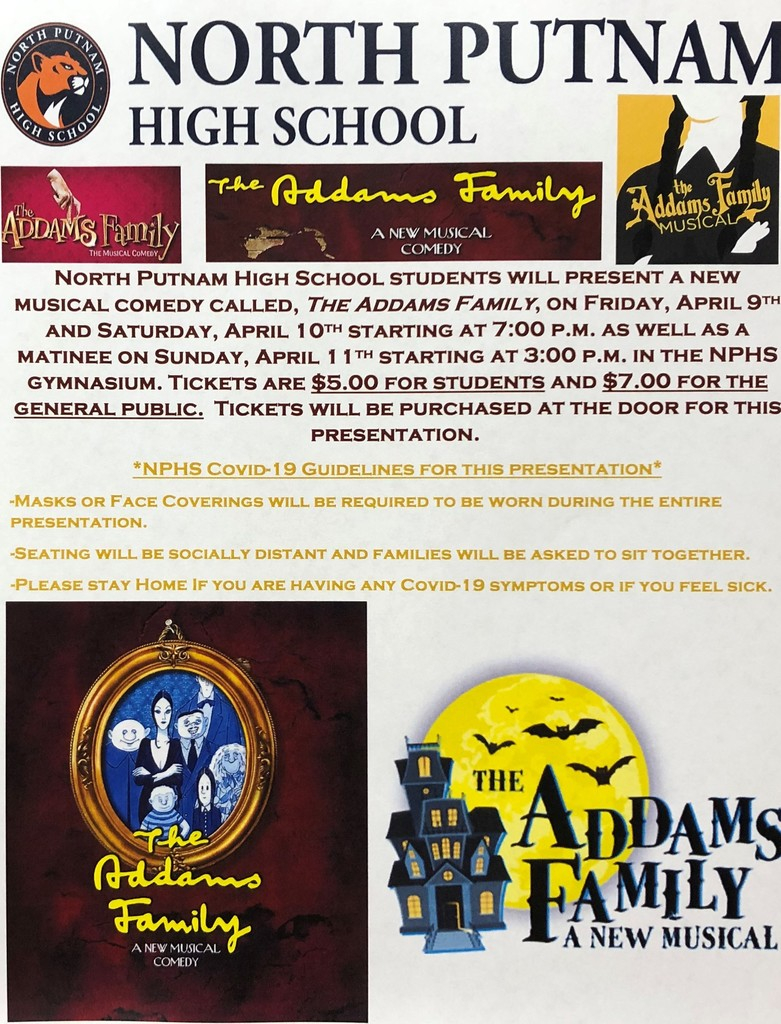 NPHS Addams Family Musical Information