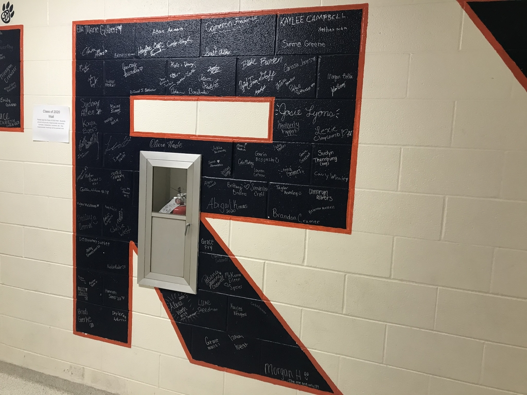 Class of 2020 signed wall.  An annual tradition where the class gets to sign the wall.